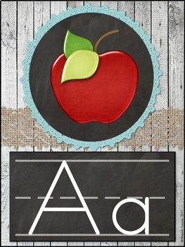 Alphabet Posters (Rustic Themed)