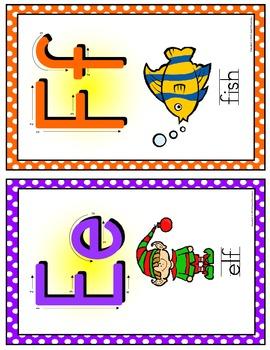 Alphabet Posters - SMALL - Polka Dot