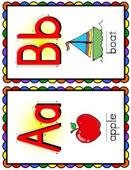 Alphabet Posters - SMALL - Rainbow Scallop