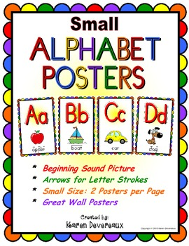 Alphabet Posters - SMALL - Rainbow Scallop