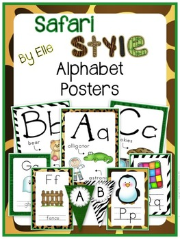Alphabet Posters - Safari Style Theme {Jungle and Animal Print}
