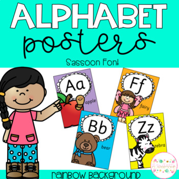 Alphabet Posters - Sassoon Font