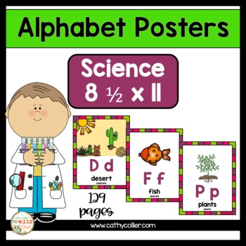 Alphabet Posters:  Science Full-Page