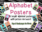 Alphabet Posters - Scribble Brights