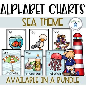 Alphabet Posters Sea Theme