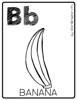 Alphabet Posters - Set 1 | Full Page | B&W
