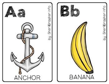 Alphabet Posters - Set 1 | Half Page | Color