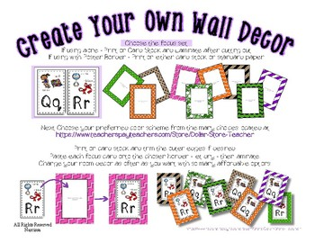 Alphabet Posters Set 2 * Create Your Own Room * Preschool Daycare