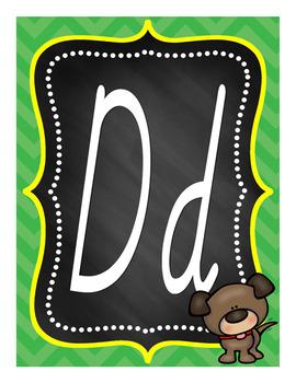 Alphabet Posters Set 2B - D'Nealian