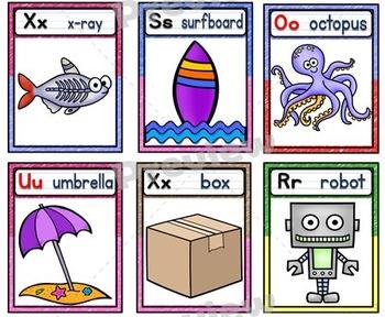 Alphabet Posters Set ~ Crayon Theme