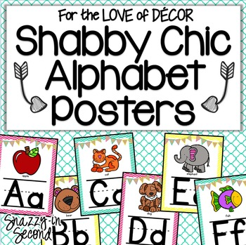 Alphabet Posters - Shabby Chic