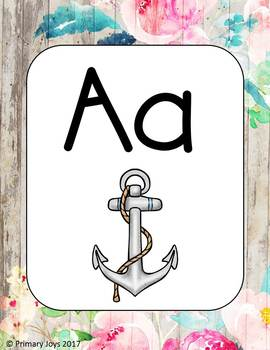 Alphabet Posters - Shabby Chic Collection