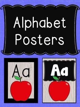 Alphabet Posters ~ Shiplap