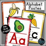 Alphabet Posters Shiplap Classroom Decor