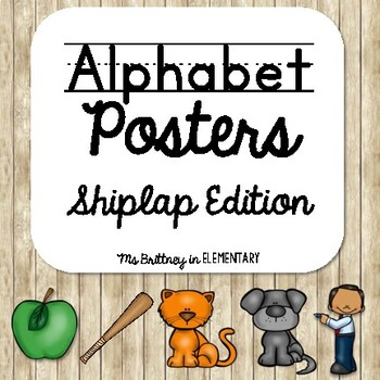 Alphabet Posters:  Shiplap Edition
