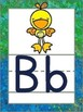 Alphabet Posters Sidewalk Chalk with ABC Animals