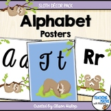 Alphabet Posters Sloth Decor Set