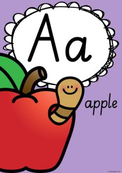 Alphabet Posters - South Australian Print and Pre-Cursive Fonts