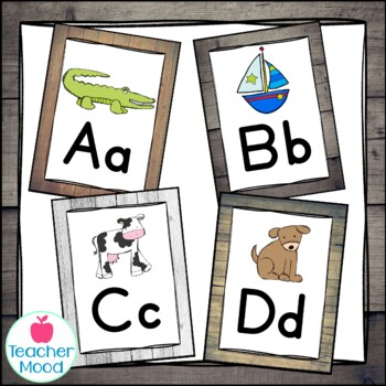 Alphabet Posters {Southern Charm} Farmhouse Theme Decor