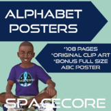 Space Themed Alphabet Posters
