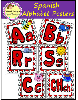 Alphabet Posters - Spanish (School Design)