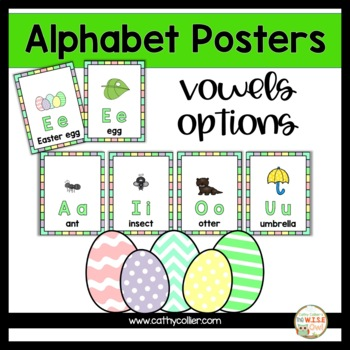 Alphabet Posters:  Spring