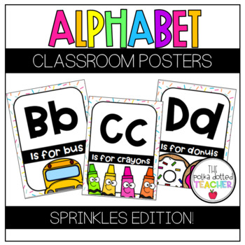 Alphabet Posters - Sprinkles Edition