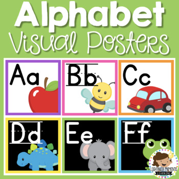 Alphabet Posters - Square - White and Black background