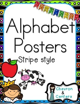 Alphabet Posters-Stripe Style