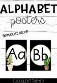Alphabet Posters- Succulent Decor