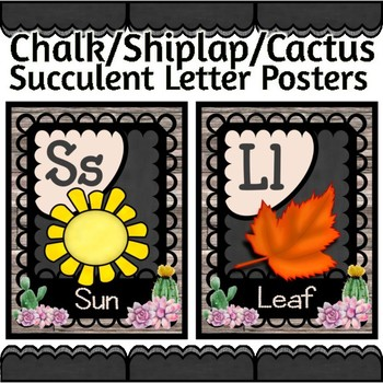 Alphabet Posters Succulent Decor for your Classroom