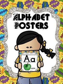 Alphabet Posters - Superhero Theme