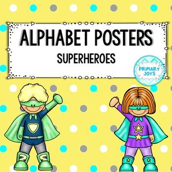 Alphabet Posters {Superheroes}
