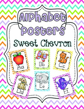 Alphabet Posters {Sweet Chevron}