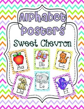 Alphabet Posters {Sweet Chevron}