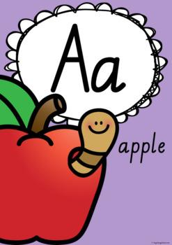 Alphabet Posters - Tasmanian Print and Pre-Cursive Fonts