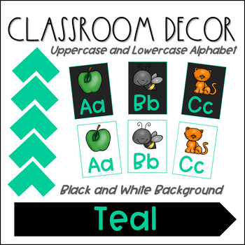 Alphabet Posters- Teal