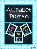 Alphabet Posters (Teal, Polkadot, and Chalkboard)