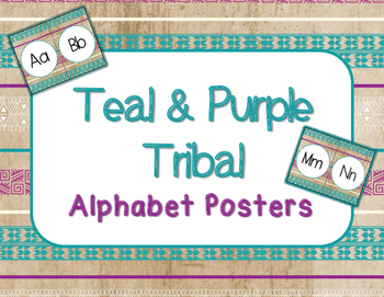 Alphabet Posters - Teal & Purple