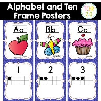 Superhero Alphabet Ten Frame Posters