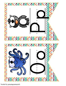 Alphabet Posters Tribal Style