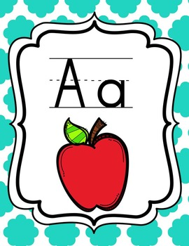 Alphabet Posters {Turquoise}