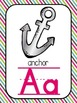 Alphabet Posters-Turquoise, Pink, and Lime Green