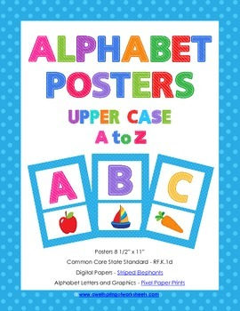 Alphabet Posters - Upper Case Letters