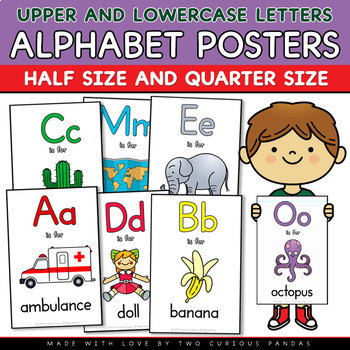 Alphabet Posters - Upper and Lowercase Letters