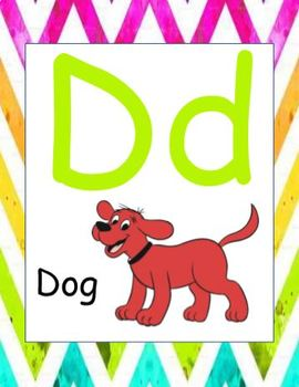 Alphabet Posters (Uppercase and Lowercase with Pictures)