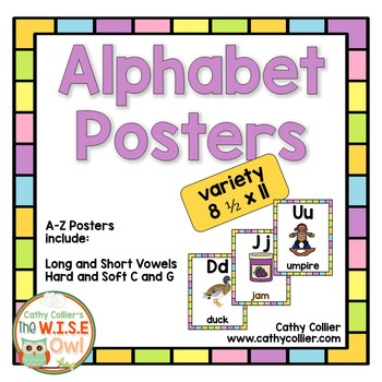 Alphabet Posters:  Variety Full-Page