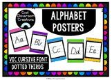 Alphabet Posters- Vic Cursive Font
