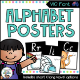 Victorian Modern Cursive Font Alphabet Posters