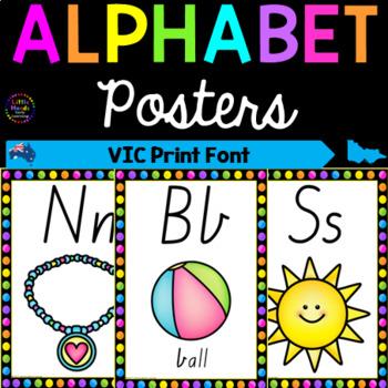 Alphabet Posters - Victoria Print Font